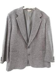 Vintage Stewart County Blazer Jacket Elbow Patches Gray Wool Lined Men's Size 54