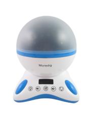 Moredig Rotation Night Light Projector Music Rotation 360 Degrees Blue White