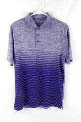 C9 by Champion Purple Striped Polo Shirt Men's Size Medium Short Sleeve