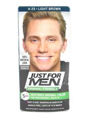 Just For Men H-25 Light Brown Hair Color Shampoo In 1 pack Unused