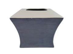 Prism Tissue Ceramic Tissue Box Cover Lavender White