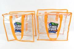Lot of 2 NCAA 2019 Final Four Minneapolis Reusable Tote Bags Clear Plastic