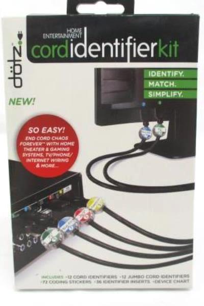 Home Entertainment Lot Cord Identifier Kit CATV Cord Audio/Video Cord Coaxial