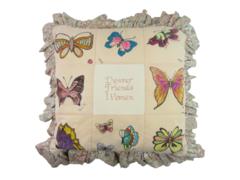 Vintage Homemade Patchwork Friendship Pillow Sign Denver Friends Women