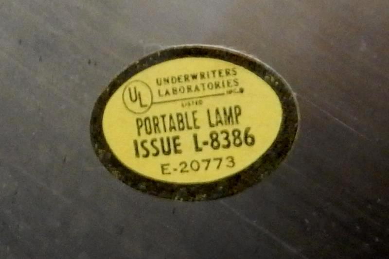 Vintage Candlestick Lamp Gold Tone Metal No Shade