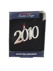 Regent Square Studio Design 2010 Ornament Rhinestone Crystals Silver