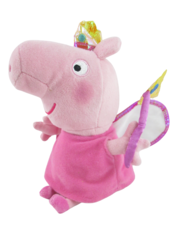 Ty Beanie Plush Princess Peppa 2015 Pink Wand Fairy Stuffed Animal No Ear Tag