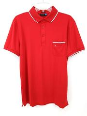J. LINDEBERG Leo TX Jersey Regular Fit Golf Polo Shirt Red Men's Size Medium