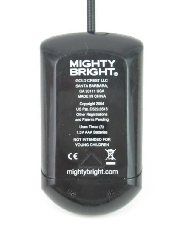 Genuine Mighty Bright Black Clip On Long Neck Book Reading Light