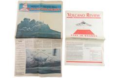Lot of 2 Vintage Newspapers Mount St Helens Diary May 1980 & Volcano Review 1993
