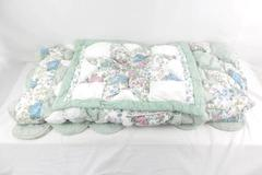 JC Penney Double Size Starburst Quilted Bedspread Comforter with Pillowcase