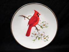 1974 Avon Cardinal North American Songbird Don Eckelberry Plate Vintage