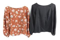 Lot of 2 Vintage Home Made Tunic Tops Women's Size Small Peasant Sleeve