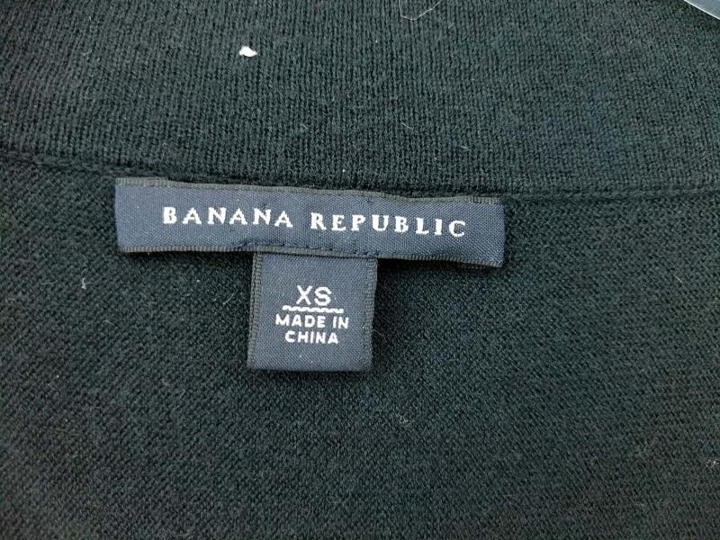 BANANA REPUBLIC Open Cardigan Circle Sweater Navy Blue Wool Cashmere Woemsn XS