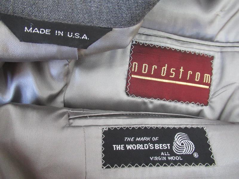 Nordstrom Suit Set Blazer Size 40 Pants Size 32 Men's Lined Gray Wool