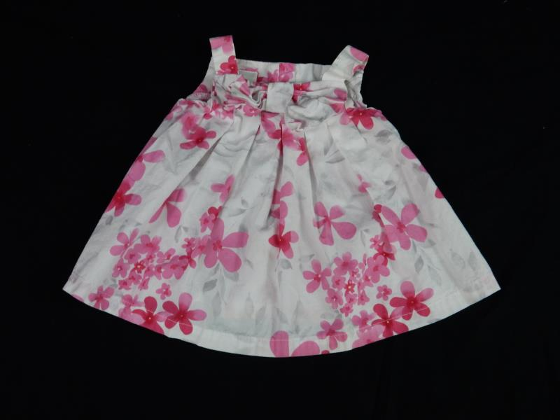 Miniwears Baby Two Piece Outfit Set Sz 0-3 Months White Pink Floral