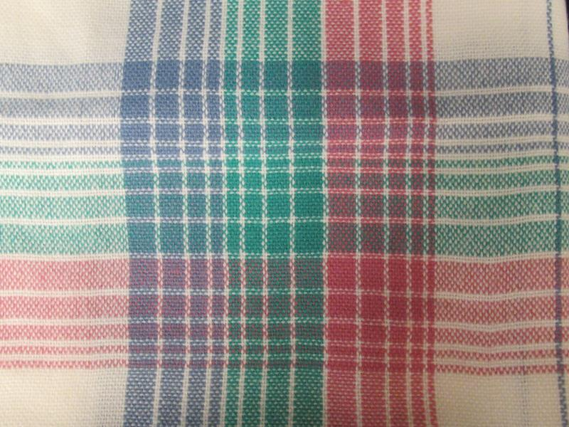Vintage Pink Green Purple And White Plaid Throw Blanket Fringe Ends
