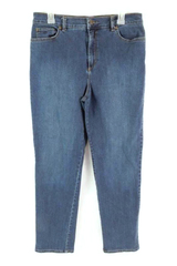 Gloria Vanderbilt Amanda Jeans Dark Wash Pockets Women's Size 12