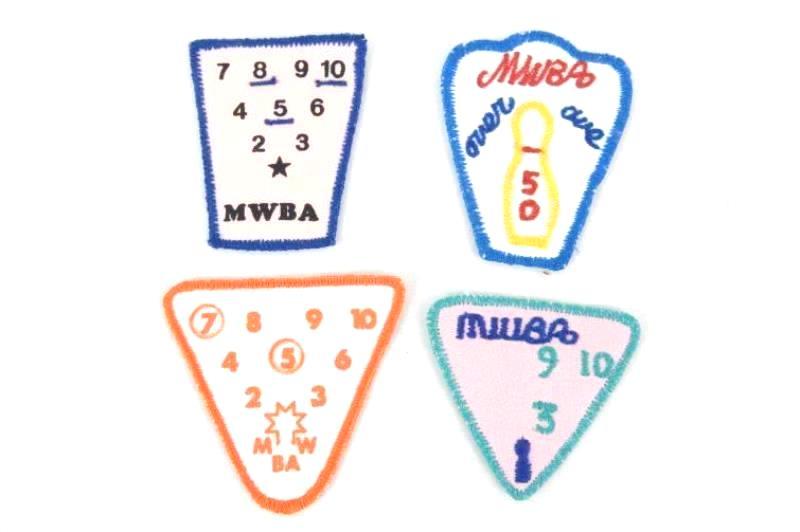 Vintage Bundle Women's Bowling Patches and Pins 1990s McMinnville Oregon League
