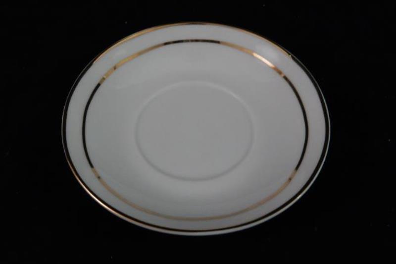 Homeworld Espresso Service For Four Cups and Saucer Set White Gold Tone