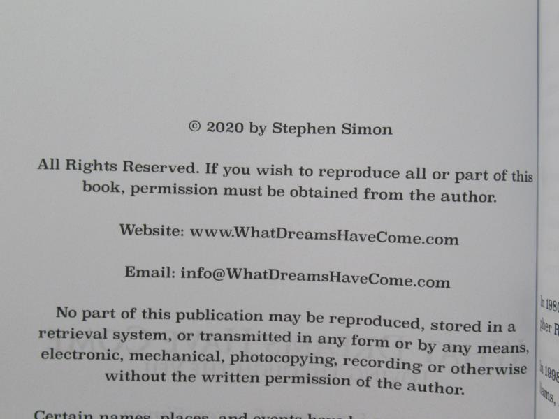 What Dreams Have Come Loving Through The Veil Stephan Simon Paperback 2020