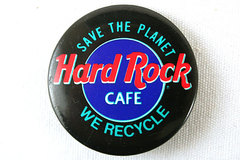 Hard Rock Cafe Recycle Button - Save the Planet - We Recycle Button Pin