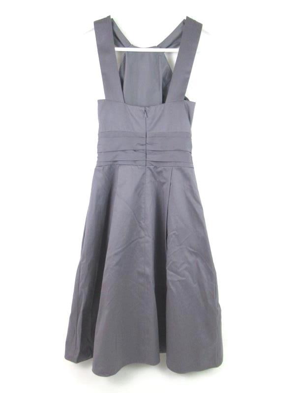 David's Bridal Dress Style 83690 Bridesmaid Party Short Pewter Size 2 Pockets