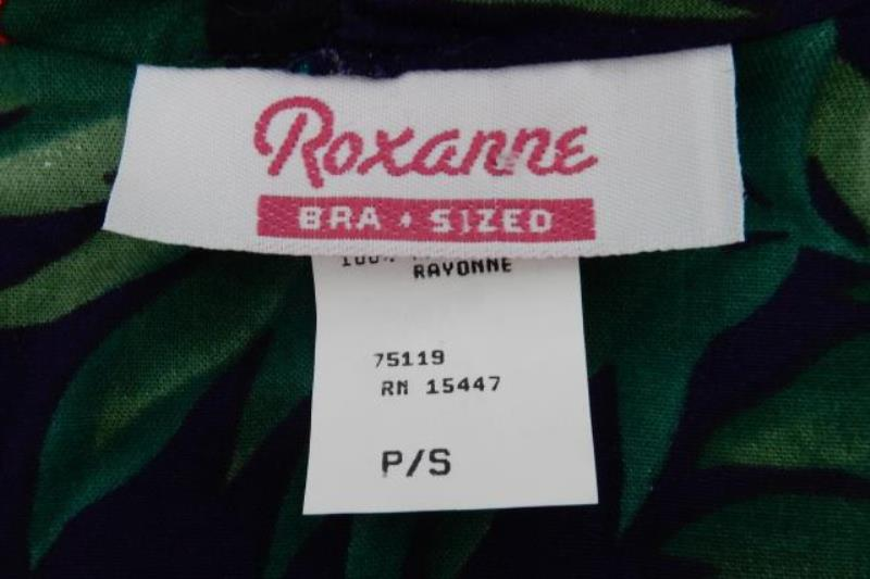 Roxanne Swimsuit Cover Up Cardigan Eggplant Style 640 Floral Size Small NWT