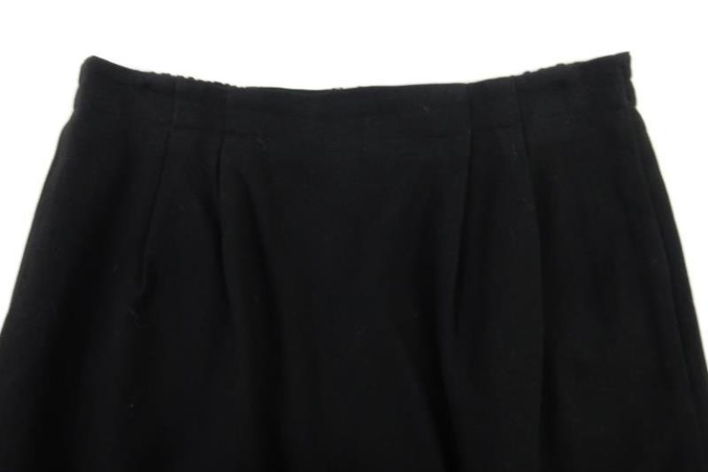 Vintage Valerie Stevens Women's Skirt Wool Black Pleated Size 8 Knee Length