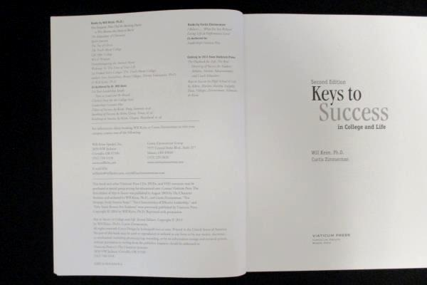 Keys To Success In College And Life 2nd Ed Keim Zimmerman SC 2013