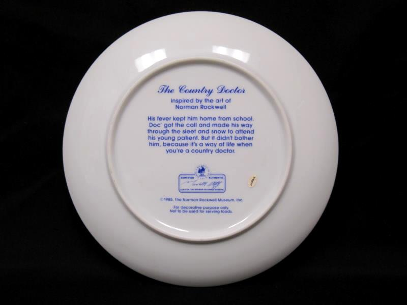 Norman Rockwell Museum Country Doctor Collector Plate 6.5 Inches Diameter