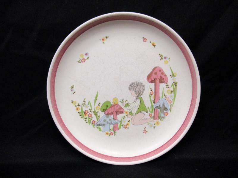Vintage J Denby England Dream Weaver Child's Stoneware Plate And Cereal Bowl