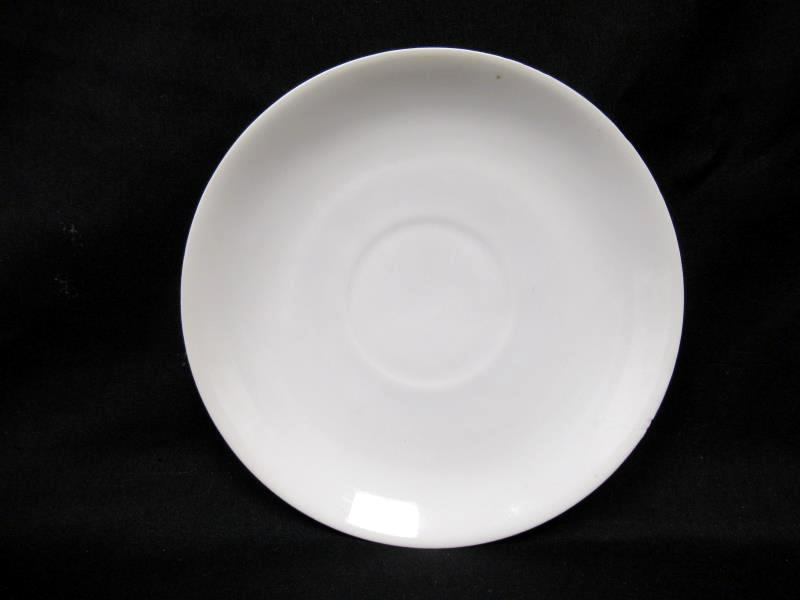 Lot of 5 White Porcelain Saucers Made In Germany 5.5 Inch Round