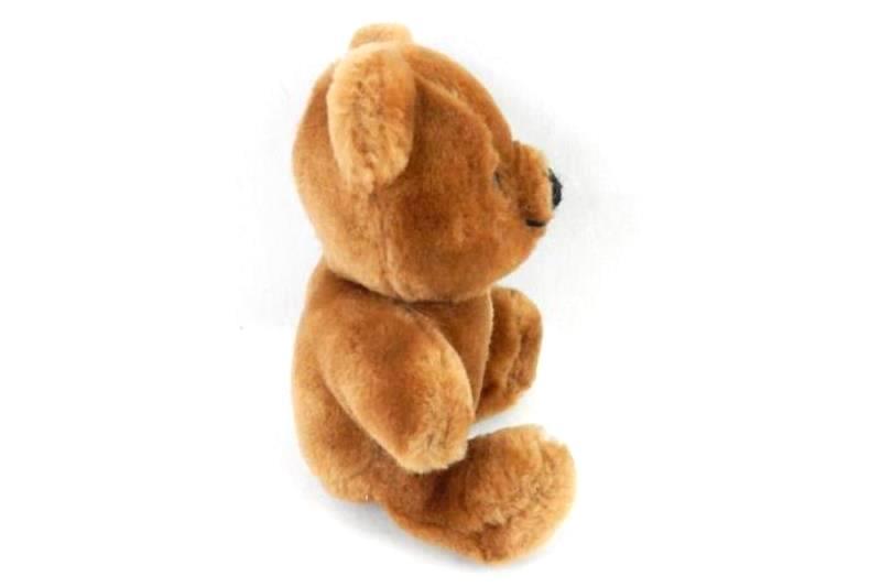 "Dakin Teddy Bear 1983 6"" Plush Vintage Stuffed Animal Brown Black Nose Eyes"