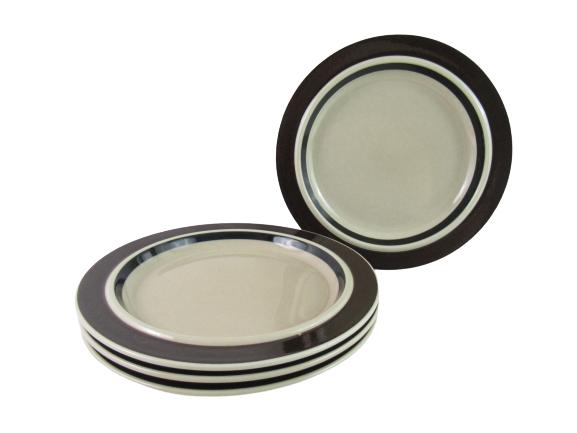 Set of 4 Vintage Arabia Finland Pottery Dinner Plates Ruija Pattern 10 inch