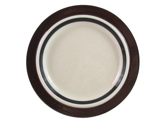 2 Vintage Arabia Finland Pottery Salad Plates Ruija Pattern 7.75 Inch Round