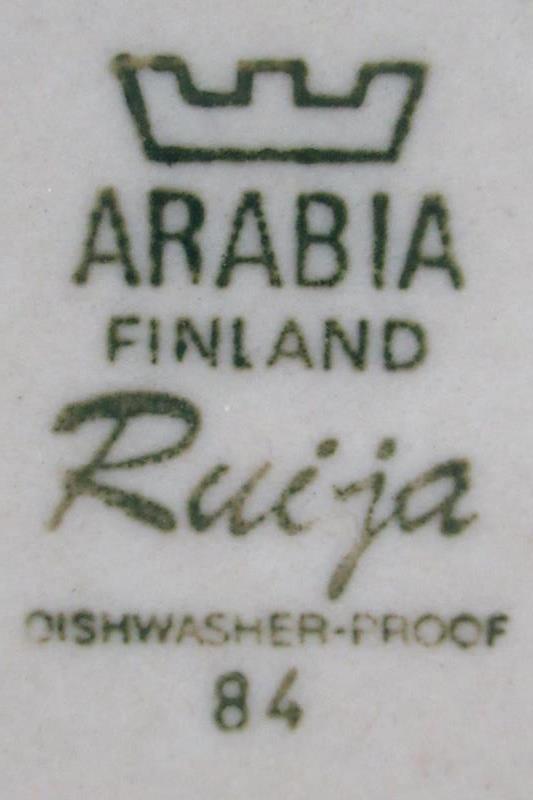 Vintage Arabia Finland Pottery Bread Plate Ruija Pattern 7 Inch Round