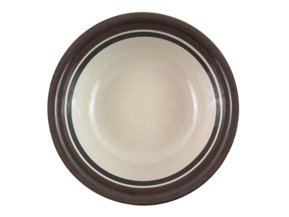 Set 4 Vintage Arabia Finland Pottery Soup Cereal Bowls Ruija Pattern 6 1/8 Inch