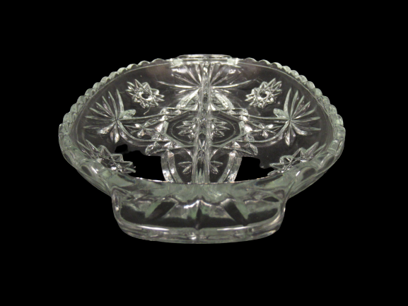 Vintage Anchor Hocking Prescut Divided Pickle Relish Dish Clear