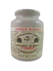 Moutarde de Meaux Pommery Mustard 9oz Empty Jar France French Stoneware Labels