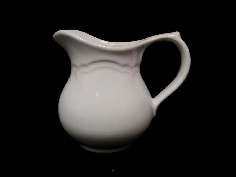 Vintage Creamer Pitcher Milk Porcelain Solid White Handle