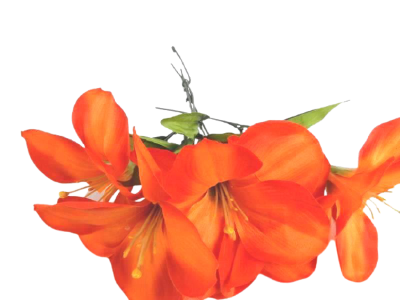 Lot Of Artificial Flowers Plus Stems of Daisies Azaleas Orange Flowers