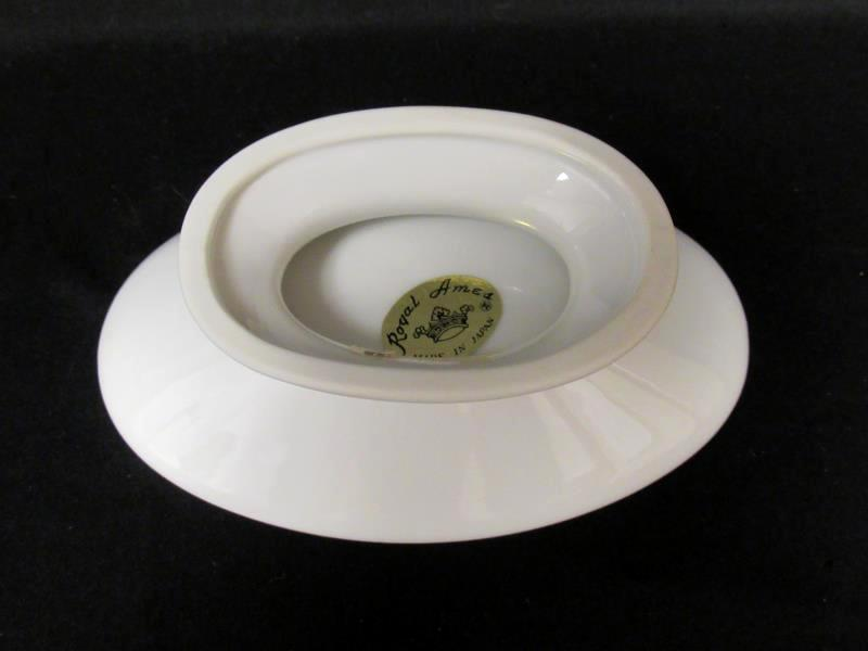 1970's Royal Ames Butterfly Soap Dish Cream Colored Small Made in Japan