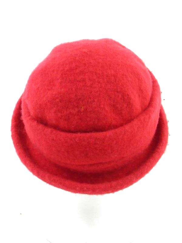 Vintage Fashions by Arlin Fifth Avenue Red Wool Hat Women's One Size