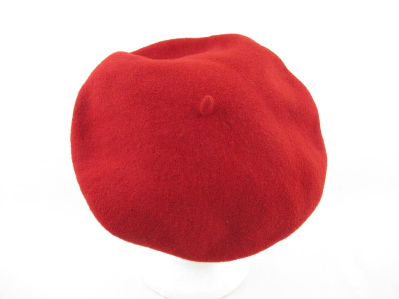 Vintage Beret Basque 100% Wool Red Hat De Luxe Bria