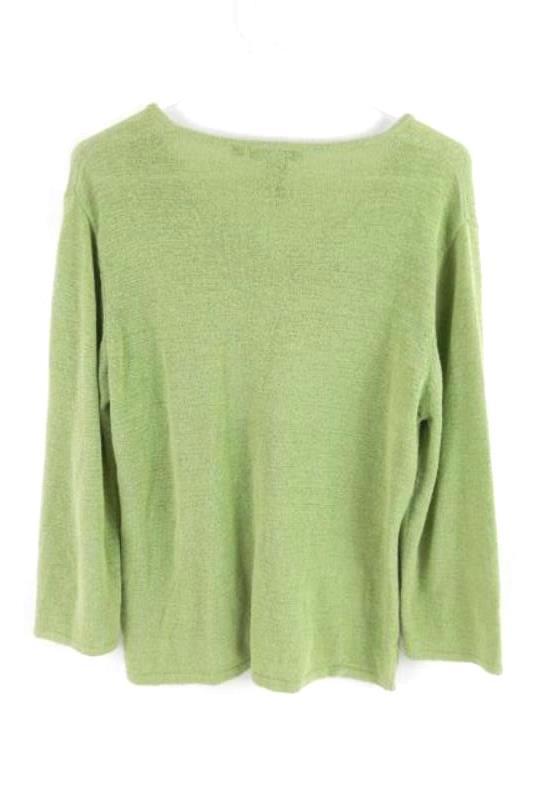 Nomadic Traders Green Knit Sweater Women's Size Large V Neckline Nylon