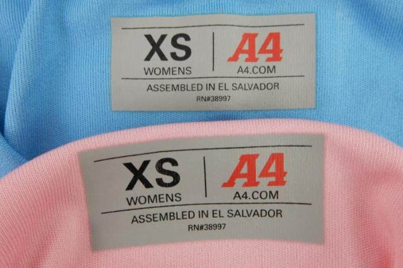 Lot of 2 A4 Women's Long Sleeve Activewear Tops Size XS Blue Pink