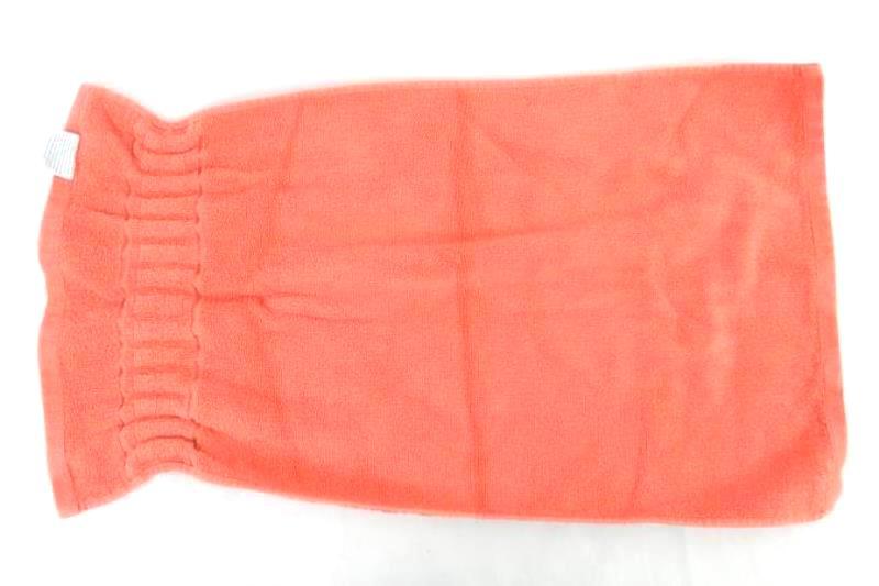 Mercer + Reid Luxury Collection Hand Towel Coral Pink Orange Square Cotton