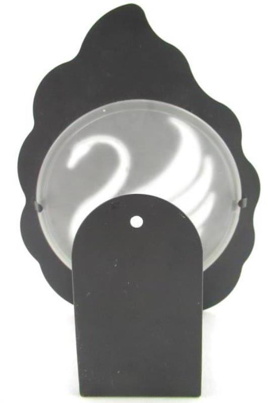 Party Lite Swan Tealight Sconce Candle Holder P7770 Black with Frosted Glass