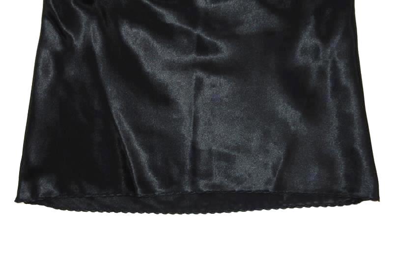 Vintage 90's Satin Camisole Tank Top Women's Size Medium Ruffle Front